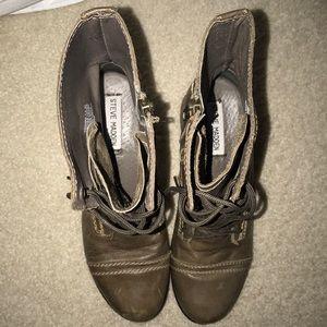 Steve Madden Shoes - Steve Madden Grey Combat Boots - Women size 7.5